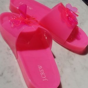 J.Crew jelly slides